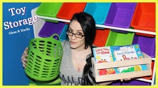 Toy Storage And Organization- Tips, Tricks & Hacks- Some As Low As $1