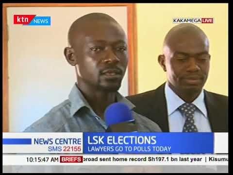 Law Society Of Kenya elections live from Kakamega county as lawyers go to polls today.