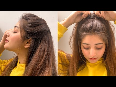 Simple and cute hairstyle for everyday | wajeeha