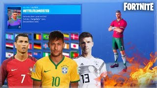 NEUE WM SKINS 🔥 Ronaldo, Neymar oder Müller!? 🔥🔴 Live Fortnite Battle Royale