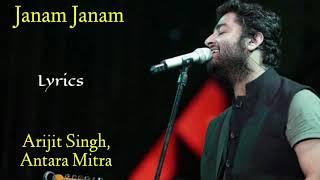 Janam Janam (Lyrics) - Arijit Singh, Antara Mitra   Pritam, Amitabh Bhattacharya   Dilwale