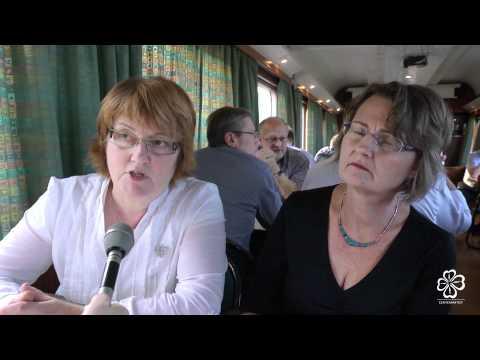 Birgitta Andersson och Marie Vilén Intervjuas. Centerpartiets partistämman i Åre 2011