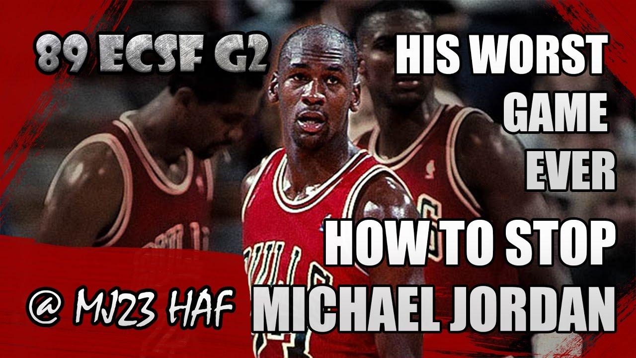 9349ee06be5 Michael Jordan Lowlights 1989 ECSF Game 2 vs Knicks - 15pts
