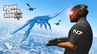 GTA 5 PC Mods - MASS EFFECT MOD w/ REAPER SHIP! GTA 5 Mass Effect Mod Gameplay! (GTA 5 Mod Gameplay)