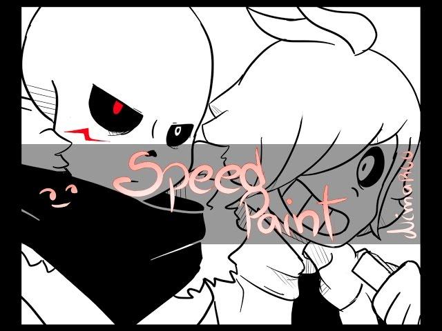Cross Sans/Chara -Underverse- SpeedPaint