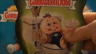 Opening POTTY SCOTTY package - Garbage Pail Kids All New Magnet Cards
