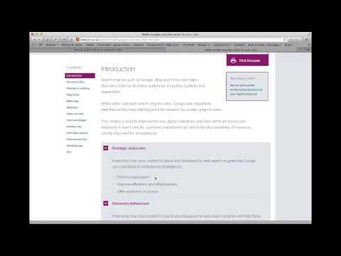 Spotlight Web Resource screencast
