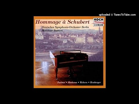 Richard Heuberger (1850-1914) : Variations on a Theme of Schubert for orchestra Op. 11 (1880)