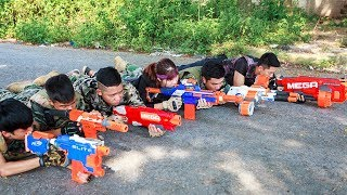 LTT Nerf War : SEAL X Warriors Nerf Guns Captain Fight Criminal Group Weapons Heavyweight