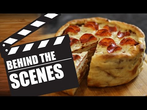 Behind The Scenes  |  Pillsbury Pepperoni Pizza Cake Recipe - HellthyJunkFood