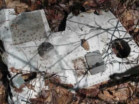 "F86-A ""Sabre"" Jet Fighter Plane Crash Site, Staceyville ME"