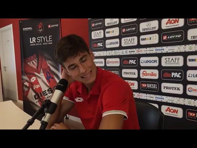 CALCIO - Presentazione terzo acquisto del LR Vicenza Pietro Beruatto