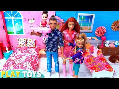 Barbie & Ken Back to School Family Morning Routine!