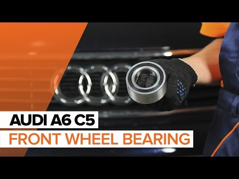 How to replace Front wheel bearing on AUDI A6 C5 TUTORIAL | AUTODOC [HD]