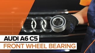 Replacing Wheel bearing kit on AUDI A6: workshop manual