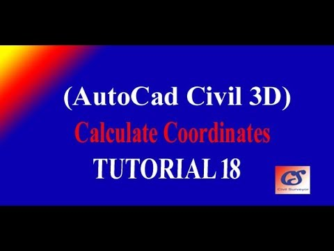 18 How to Calculate Stations Coordinates in AutoCAD Civil 3D