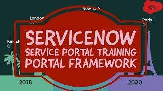 #4 ServiceNow Service Portal Training | Portal Framework