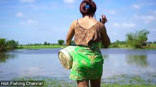 Beautiful Girl Fishing Alone | Amazing Fishing | Fishing Girls | 2018 | Part 28