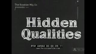 1920s KROEHLER FURNITURE COMPANY SILENT PROMOTIONAL FILM  PART 1 44944