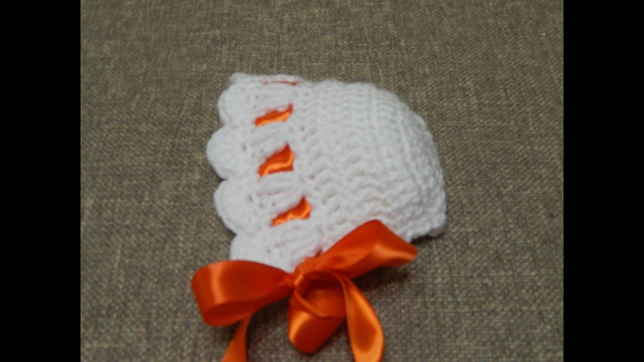 Gorrito Crochet para Bebé - YouTube