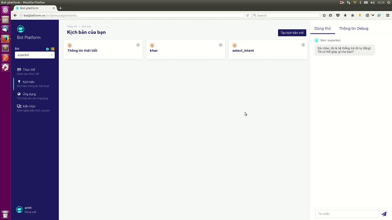 Download Hướng dẫn sử dụng Bot Platform Pt. 2 - Khai thác thông tin