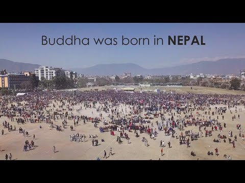 Buddha was born in Nepal, drone shot, World Record Holders event at Tundikhel