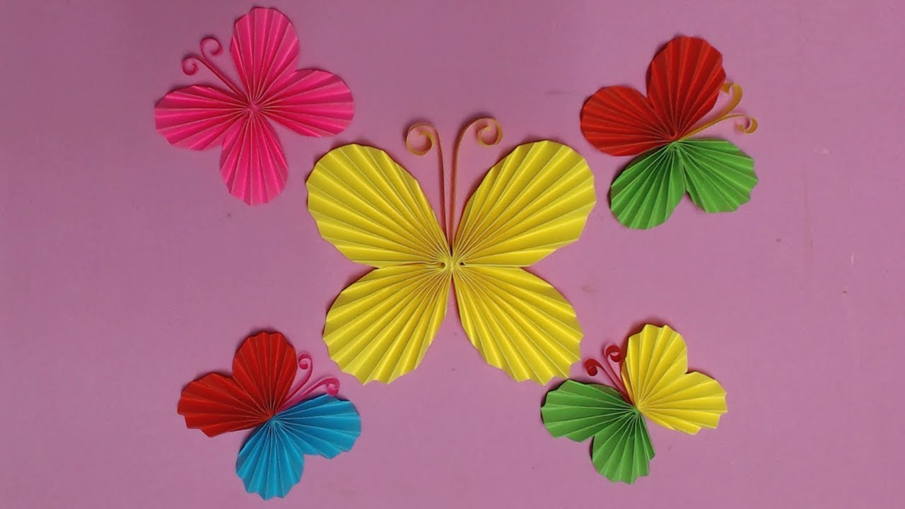 Attractive How To Make Paper Butterfly Wall Decor Adornment - The ...