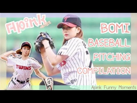 [COMPILATION] Apink Yoon Bomi - Baseball pitching | Apink Funny Moments