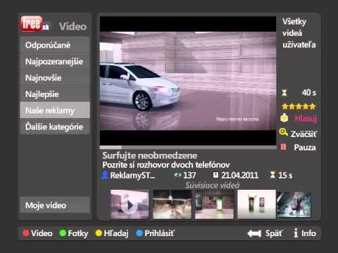 T-Com Magio TV Funkcie: Free.sk