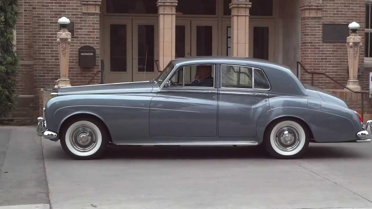 1960s Classic Vintage Rolls Royce Phantom V Limousine Driving Away ...