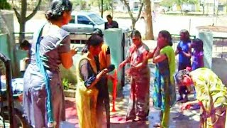 Masti & Enjoy of Holi festival of India by Female at I T I colony Camp Amravati Maharastra