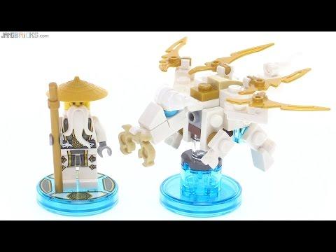 LEGO Dimensions Sensei Wu Fun Pack toys reviewed! 71234 - YouTube