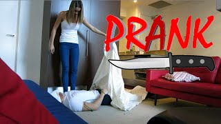 Murder PRANK on Girlfriend - BACKFIRED!