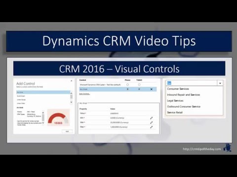 Dynamics CRM 2016 New Visual Controls for Mobile Clients