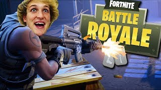 LOGAN PAUL KILLED ME IN FORTNITE! (Fortnite Battle Royale)