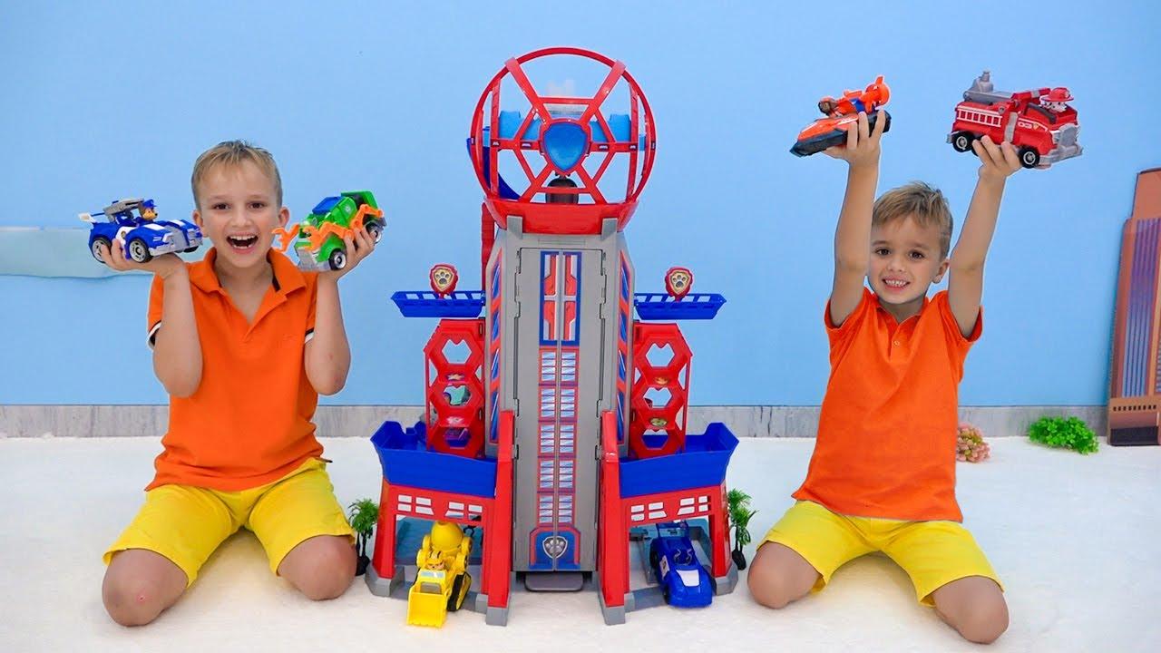 Vlad y Niki PAW Patrol la historia de los juguetes de la película