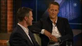Repeat youtube video Beckmann am 30.08.12 : Michael Schumacher und sein Bruder Ralf bei