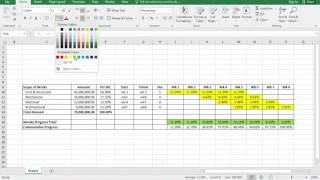 How to make an  S-Curve in Excel from MS-Project in Construction