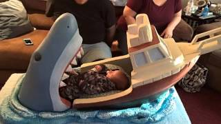 Open Wide! Designer Builds Terrifying Baby Bed Inspired By Steven Spielberg's Iconic Shark Movie