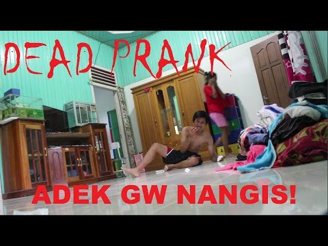GILA ADIK GW SAMPE NANGIS! DEAD PRANK ON COUSIN (FAILED) - PRANK INDONESIA