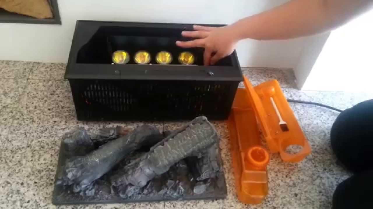 Chimenea electrica con fuego opti myst youtube - Chimeneas decorativas ...