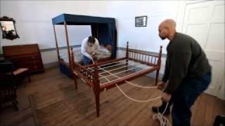 Weaving An Early 19th Century Rope Bed At Hope Plantation (north Carolina)