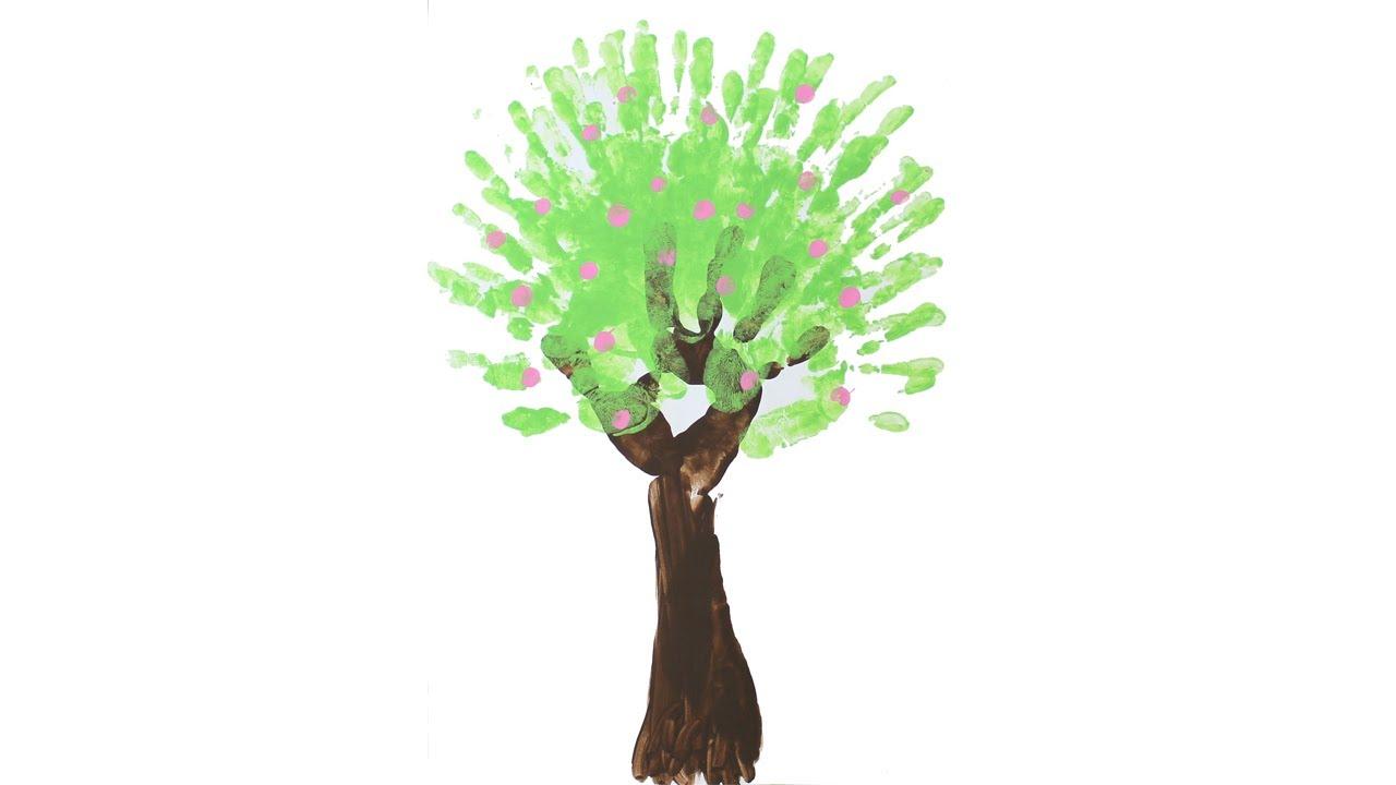 Peinture doigt arbre au printemps youtube - Bricolage de printemps ...