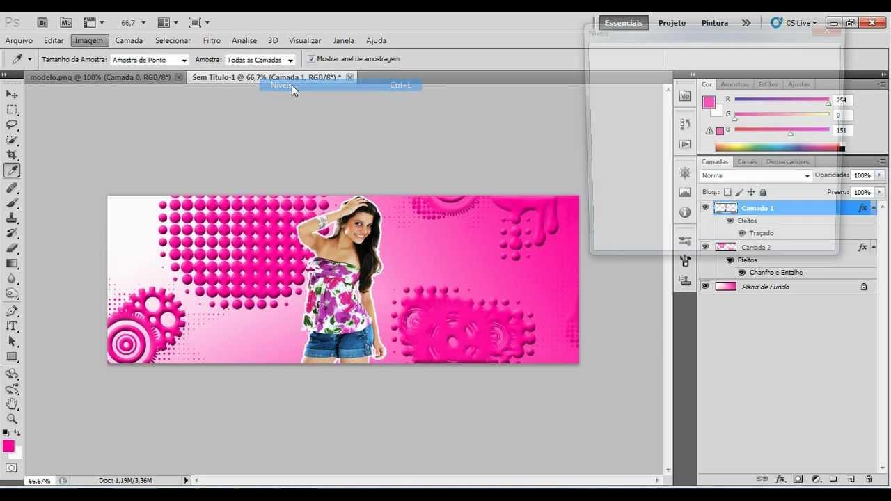 Como Criar uma Capa Criativa de Facebook com o Photoshop - Tut…