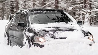 The Mitsubishi Evo Snow Plow