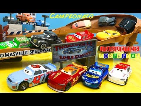 LEGENDAS DE CARRERAS THOMASVILLE  Disney pixar Cars 3 Carros de Carrera para niños - Pista de Coches