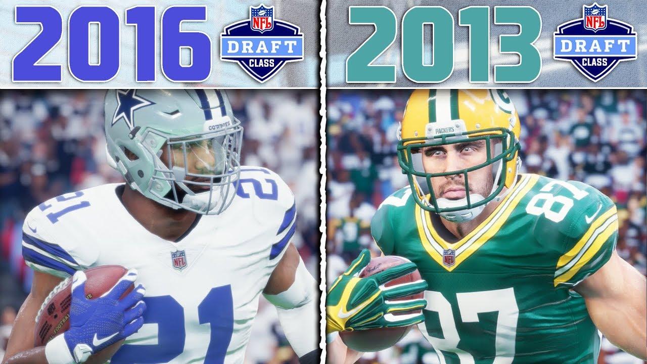 bd7b3d14 2016 NFL DRAFT CLASS vs 2013 NFL DRAFT CLASS   Madden 18 NFL Draft Class  Tournament Game 5