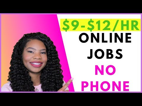 No-Phone Work-From-Home Jobs. Easy. Entry Level | Online, Remote Work-At-Home Jobs October 2019