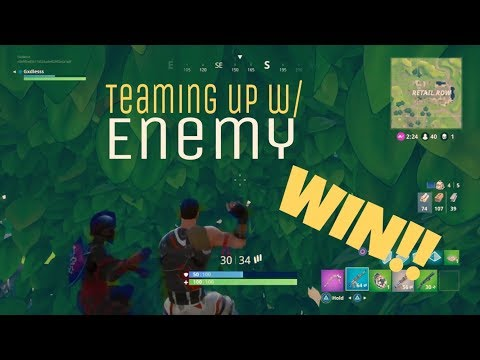 Fortnite Teaming Up With Enemy😂 (win)