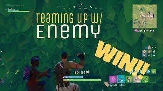 Fortnite Teaming Up With Enemy😂 (win) thumbnail